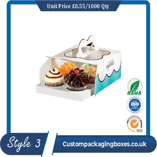 Tuck End Auto Bottom Cupcake Boxes