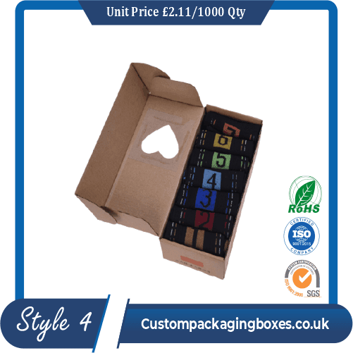 custom socks packaging boxes sample # 4