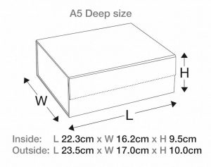 A5 Deep Gift Packaging Boxes size