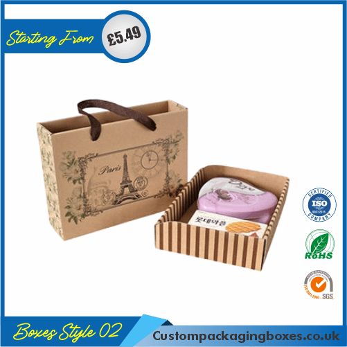 Bottle Gift Box with lid & tie 02