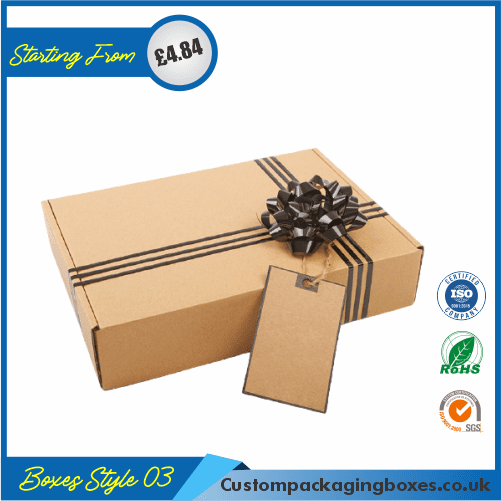 Bottle Gift Box with lid & tie 03