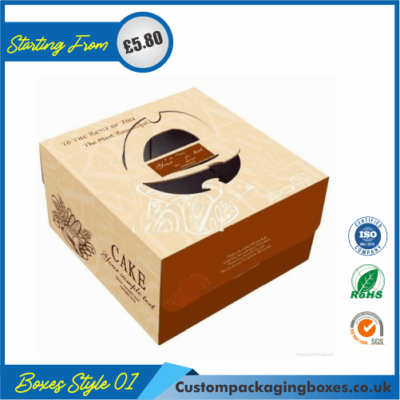 Cake Box With Hanger and Lid 01