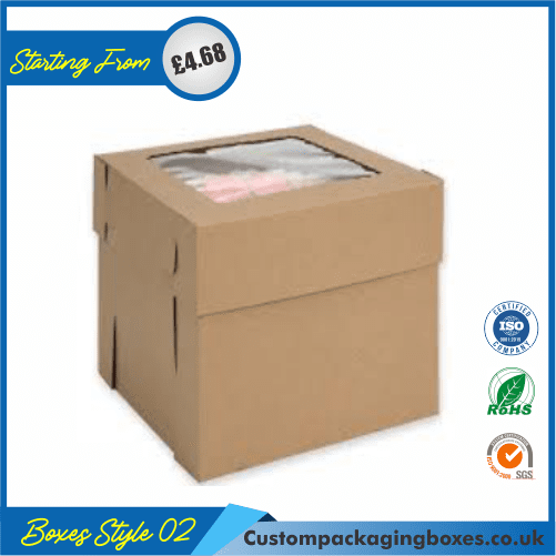 Cake Box With Hanger and Lid 02