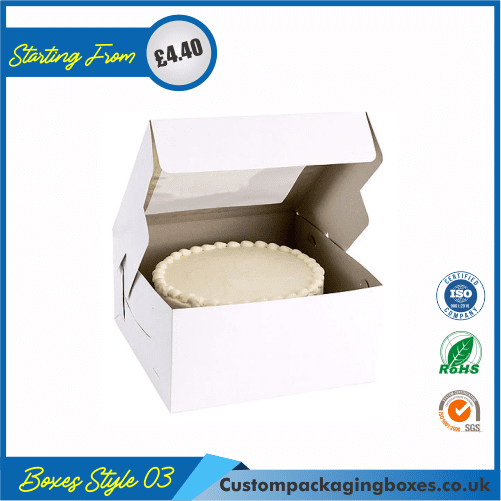 Cake Box With Hanger and Lid 03