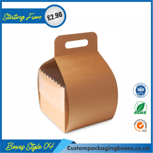 Cake Box With Hanger and Lid 04