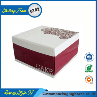 Cake Gift Box with Lid 01