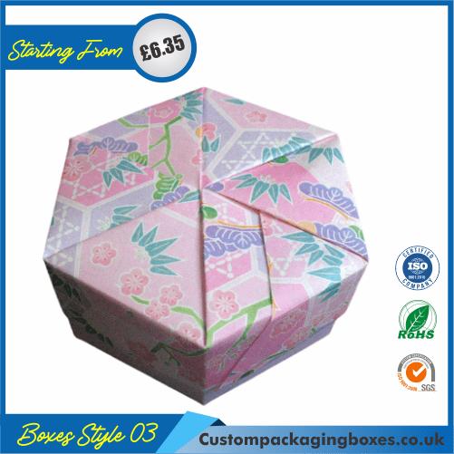 Hexagonal Origami Gift Box 03