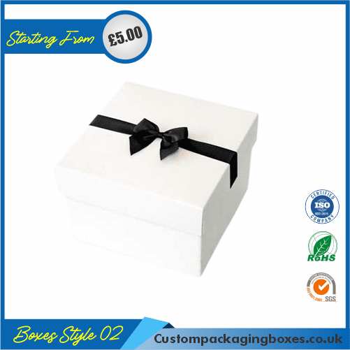 Pack of 100 White Small Gift Boxes with Ribbon 02