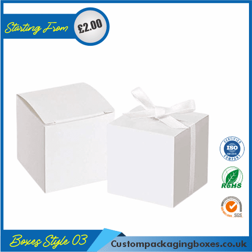 Pack of 100 White Small Gift Boxes with Ribbon 03