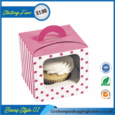 Simple Cupcake Box With Lid 01