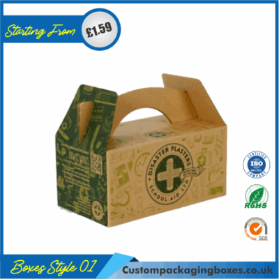 Cardboard Carry Packaging Boxes 01