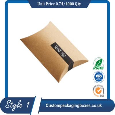 Custom Cardboard Pillow Packaging Boxes sample #1