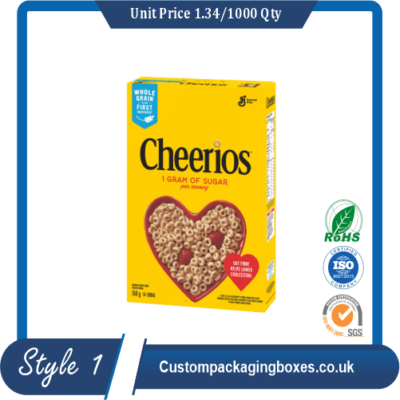 Custom Cereal Cardboard Boxes sample #1