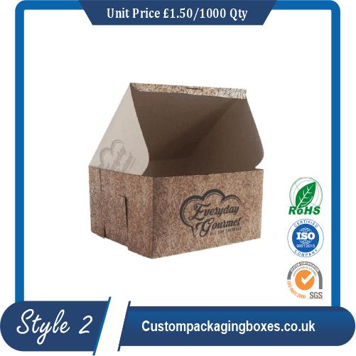 Custom Kraft Cake Boxes