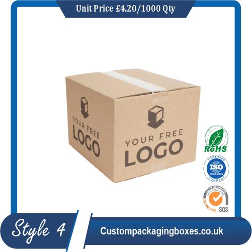 Kraft Logo Shipping Boxes