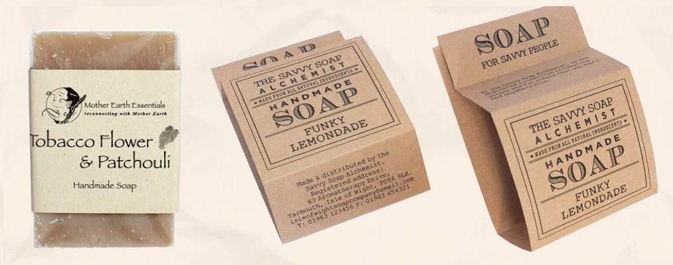 Custom kraft soap sleeve soap wraps pape