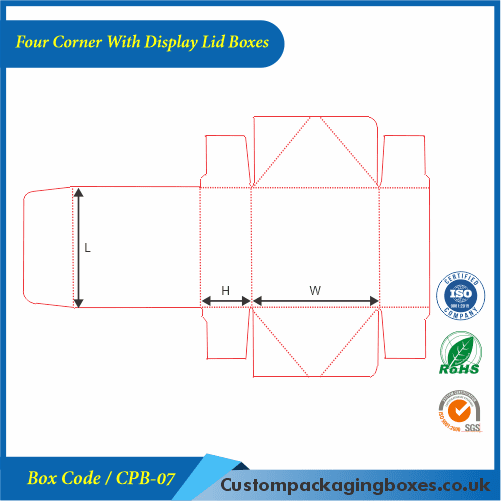 Four Corner With Display Lid Boxes 04