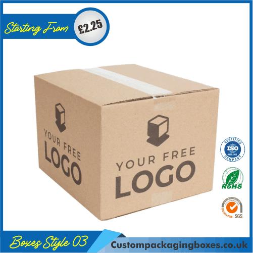 Kraft Logo Shipping Boxes 03