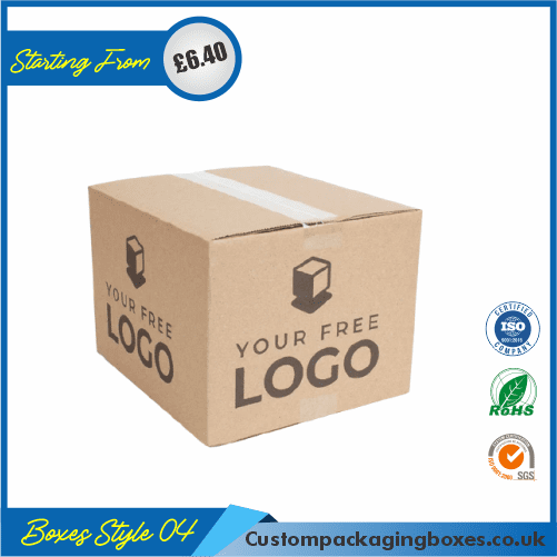Kraft Logo Shipping Boxes 04