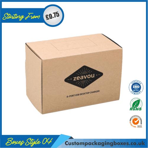 Kraft Logo Shipping Boxes 04