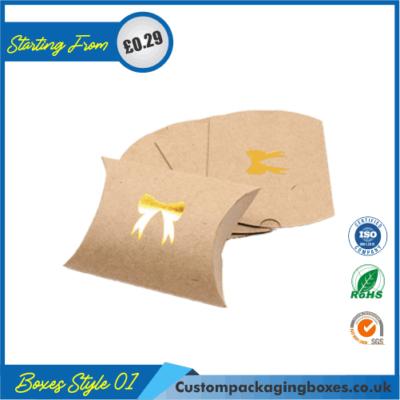 Kraft Paper Gift Pillow Boxes 04