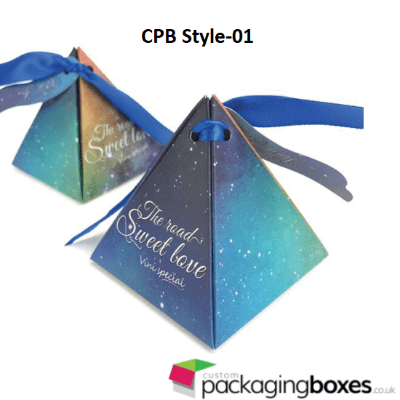 Personalized Pyramid Favor Box 1
