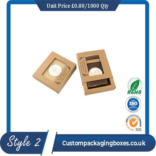 Printed Kraft Soap Packaging Boxes