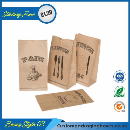 Printed Kraft Window Packaging Bags 03