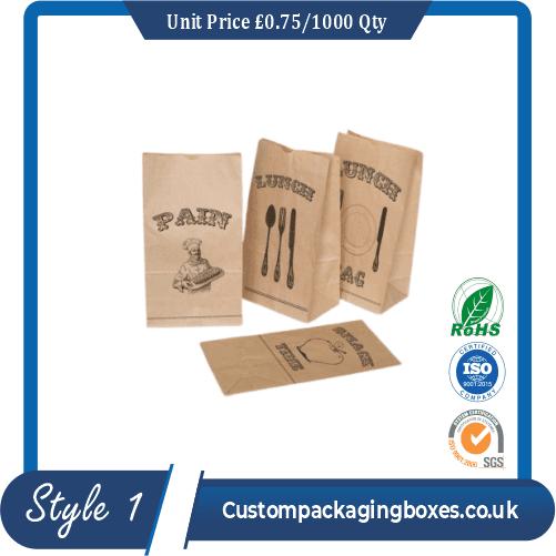 Printed Kraft Window Packaging Bags