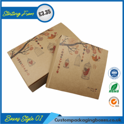 Printed Kraft Window Packaging Boxes 01