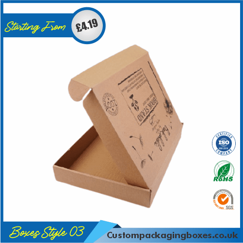 Printed Kraft Window Packaging Boxes 03