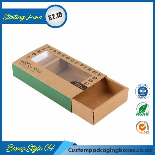 Printed Kraft Window Packaging Boxes 04