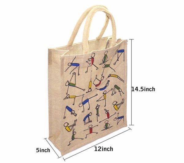 Mist Yoga Print Jute Shopping Bag 2
