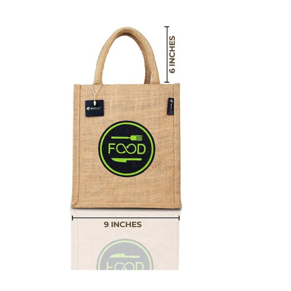 Jute Bag for Multi uses with zipping & Bottle Holder
