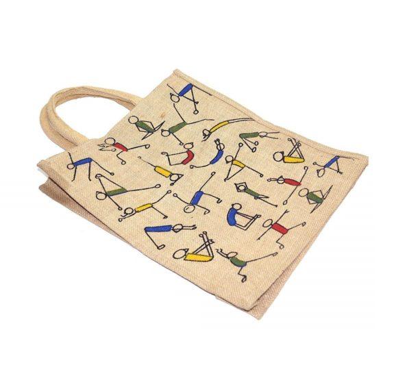Mist Yoga Print Jute Shopping Bag 3