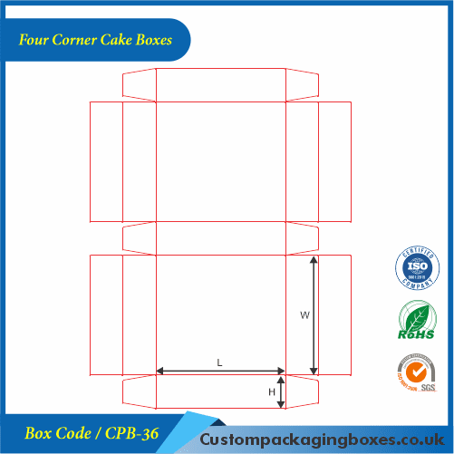 Four Corner Cake Boxes 04