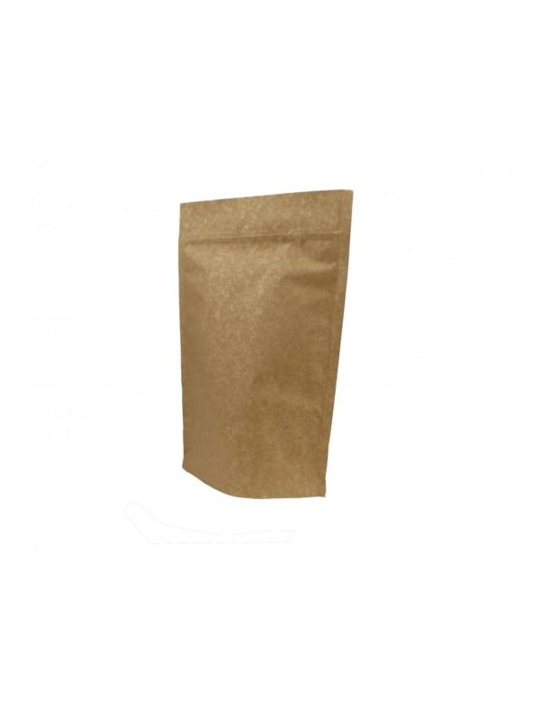 Extra Thick Kraft Paper Aluminium Stand Up Pouch with Zip Lock 1