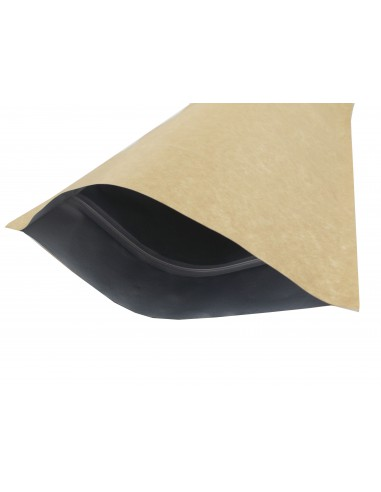 Extra Thick Kraft Paper Aluminium Stand Up Pouch with Zip Lock 2