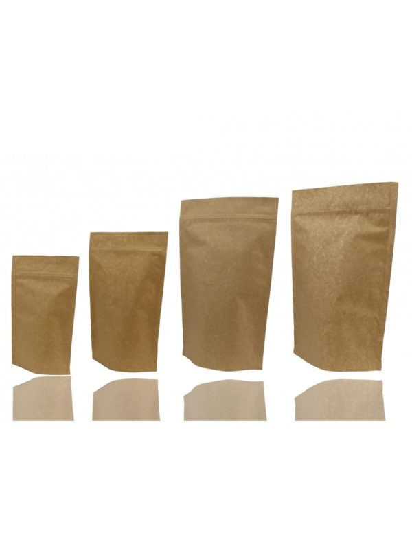 Extra Thick Kraft Paper Aluminium Stand Up Pouch with Zip Lock 4