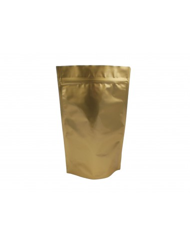 Gold Aluminium Stand Up Pouch with Zip Lock 1