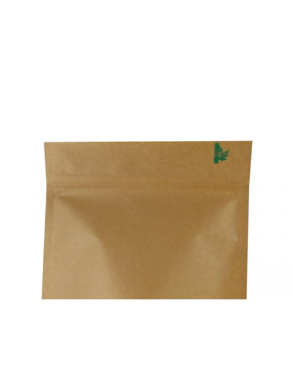 Kraft Paper Fully Biodegradable Pouch with Zip Lock