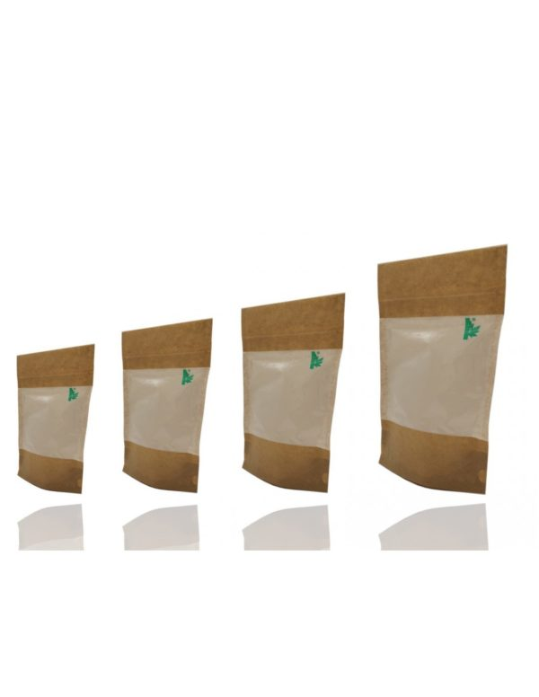 Window Fully Biodegradable Pouch with Zip Lock 3