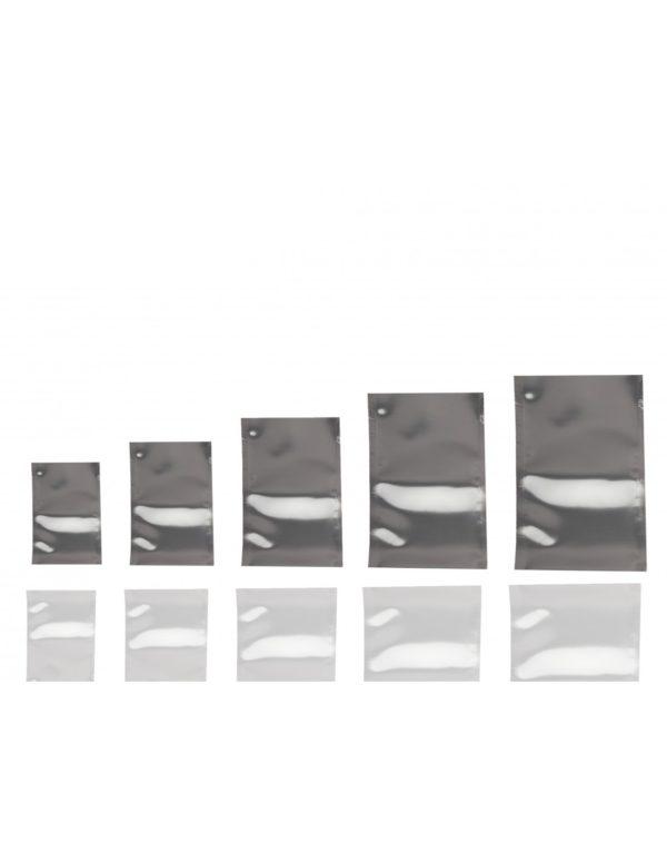 Silver Shine Chrome Effect Flat Pouch
