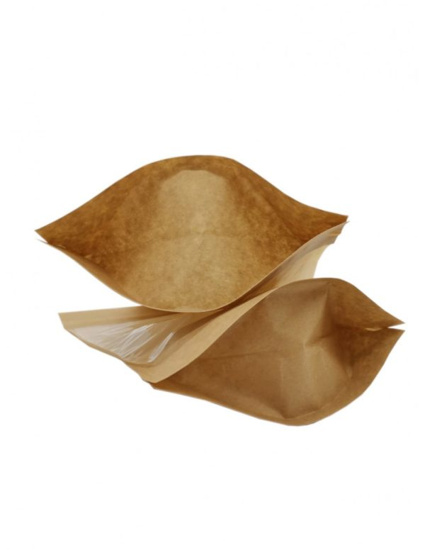 Window Fully Biodegradable Pouch with Zip Lock 4