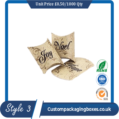 Pillow Style Packaging Boxes