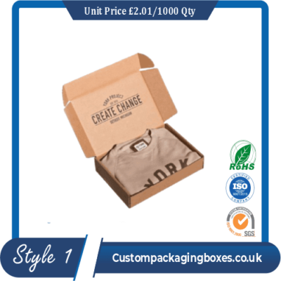 apparel packaging boxes printing sample #1