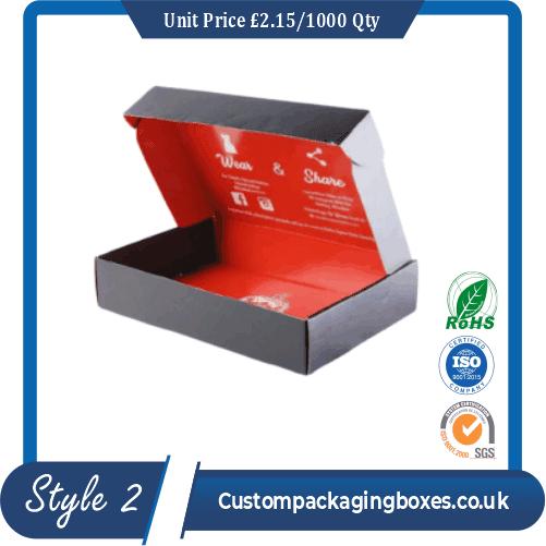 apparel packaging boxes printing sample #2